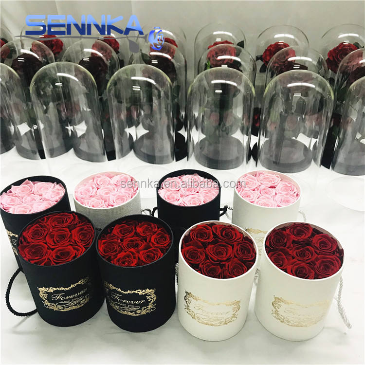 Wholesale wreath making supplies decorative real rose preserved roses in gift box