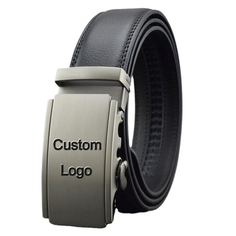 Custom Luxury Business Top Grain Automatic Genuine Leather Men's Fashion Belt