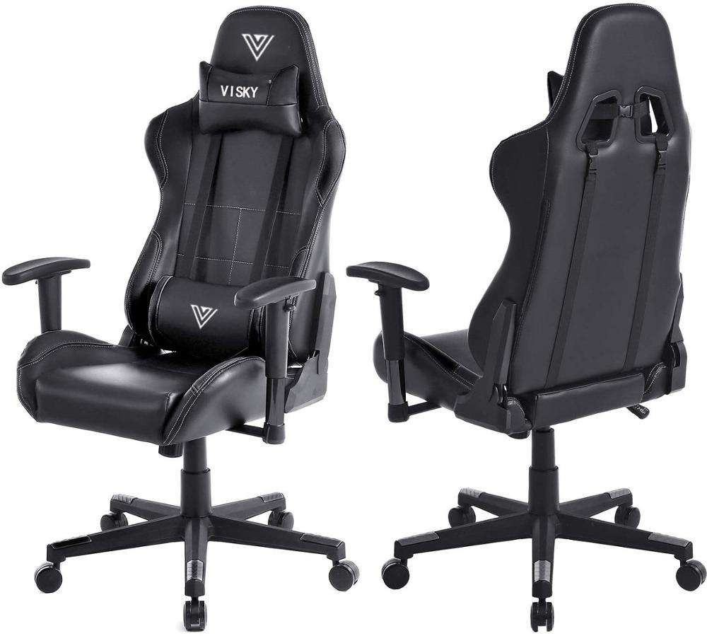 VISKY Wholesale oem Dota2 180 degree Reclining computer office Racing seat swivel massage Gaming Chair