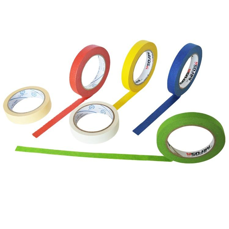 Hot Sale In Kuwait High Temperature Resist Roll Paper Adhesive Decorative Masking Tape