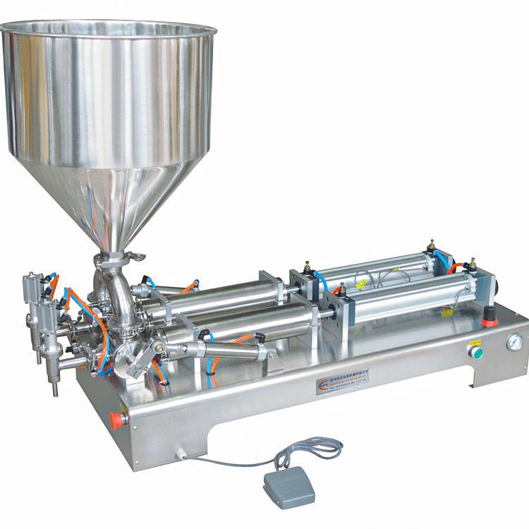 Low Price Semi-自動Single/Double HeadダブルピストンSmall Paste Filling Machine