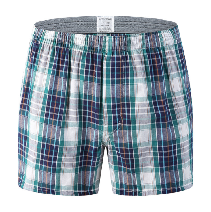 Men's Launge Wear 100 Cotton Stripe Tartan Sleeping Shorts Beach Shorts
