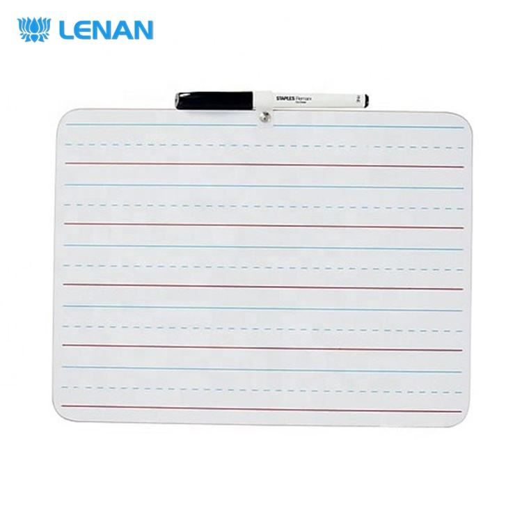 Dry erase lapboard 9 x 12 inches frameless portable mini double side dry erase learning whiteboard with marker pen