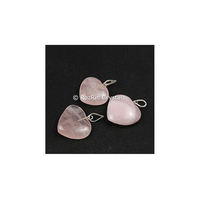 Semi-precious Gemstone Pendant Rose Quartz Heart shape Pendants