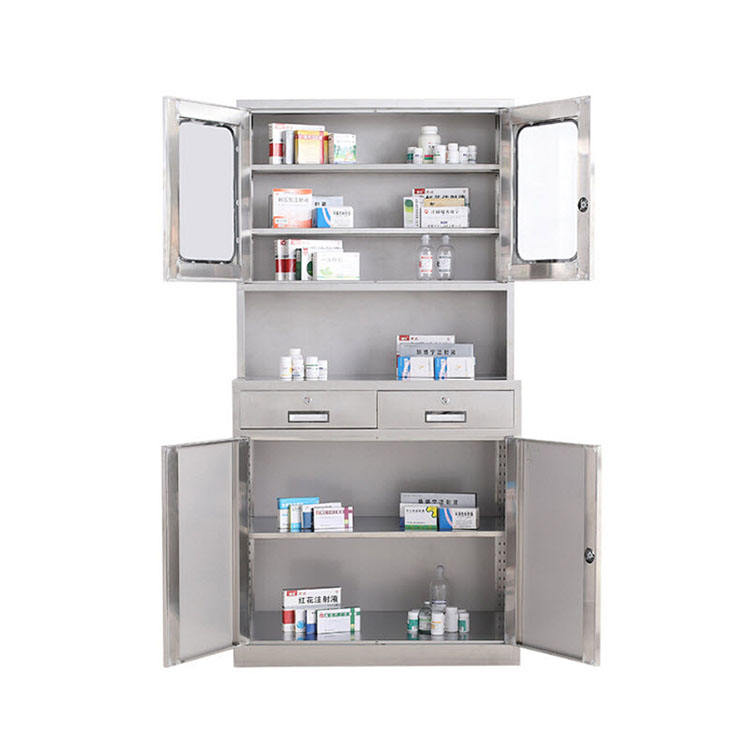 Hospital Cupboard Stainless Pharmacy Medicine Cabinet Cabinets