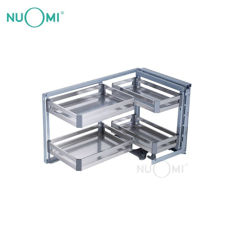 NUOMI Hot Sale Kitchen Cabinet Magic Corner Basket TERRAS Series