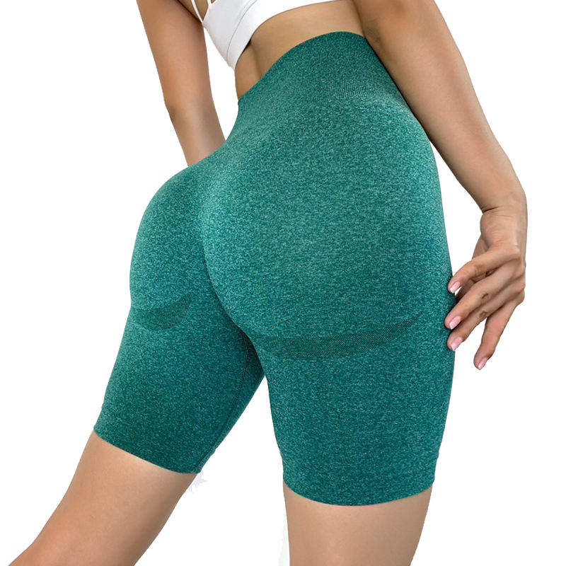 Women High Waist Compression Seamless Gymnastic Muscle Sweat Shorts