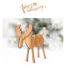 Most popular New DIY Wooden Elk Ornaments diy Christmas home Decoration