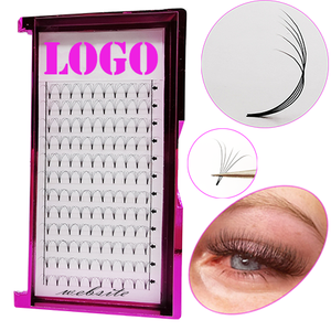 new fan eyelash black eyelashes trays 16 rows wholesale 5d faux mink lashes with private korea d curl lash extensions