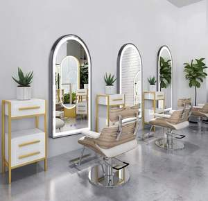 Full Length Salon Mirror With Lights Barber Mirrors For Hair Salon