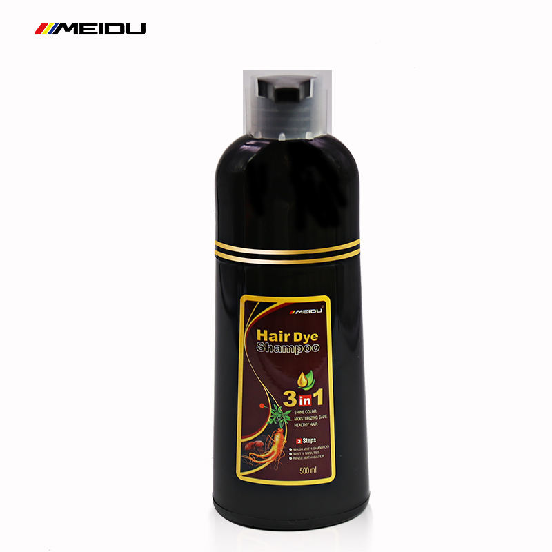 Thailand hot sale manufacturer 500ml amonia henna herbal free permanent natural fast 7 colors fashion cosmetics dye hair shampoo