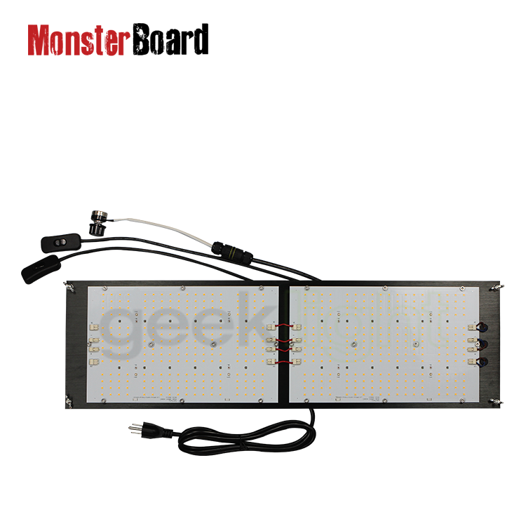 Geeklight V4 Lm301h <span class=keywords><strong>3500</strong></span> K 660nm Uv Ir 240W Lampu Tumbuh Led Papan Monster