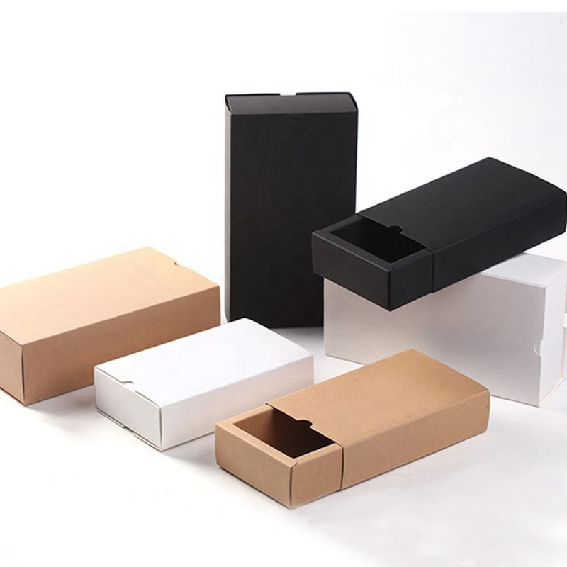 Kraft Paper Gift Box Custom Printed Drawer Slide Style Kraft Tea Bags Paper Packaging Box