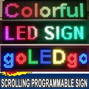 Bright Rgb Full Color Programmeerbare Scrolling Led Message Marquee Teken, Slanke Sterke Ontwerp Met Vermeld Power