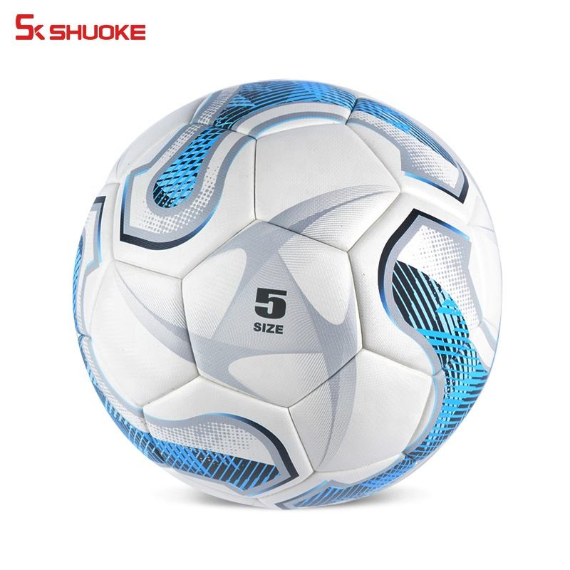 Wholesale high quality size 5 football customize match training PU football Soccer Ball