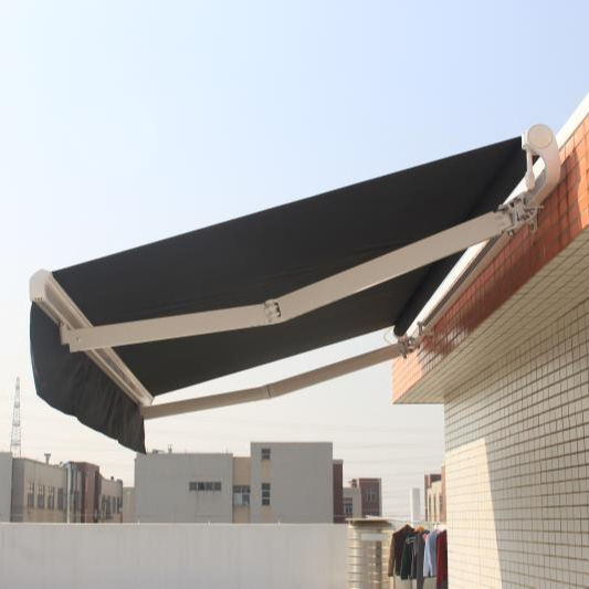 Outdoor Balcony Aluminum Electric Manual Sun Shade Retractable Awnings Motorized for Sale