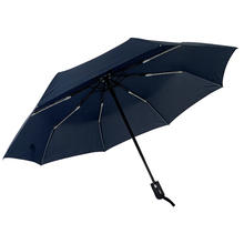 Xiamen Fast Delivery Cheap Navy Blue Auto Open And Close 3 Fold Umbrella Ready To Ship Accept Custom Logo Print