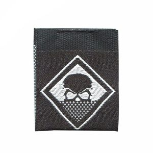 Customized Black Satin Damask Wholesale Brand Garment Accessories Custom High Density Damask Woven Tag Labels