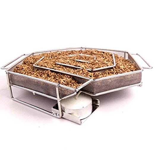Stainless Steel Mesh Cold Smoke Generator Haxagon shape BBQ&Grill Cold Smoke Box For smoking wood dust-In Stock