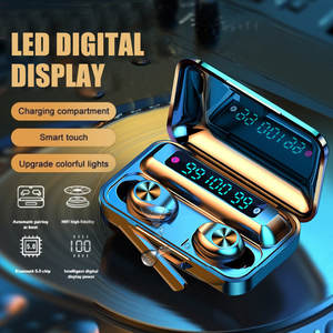 THE NEW LED Display TWS F9 Wireless 5.0 Earbuds 3D Stereo Waterproof Sports Noise Cancelling Blueteeths Earphone