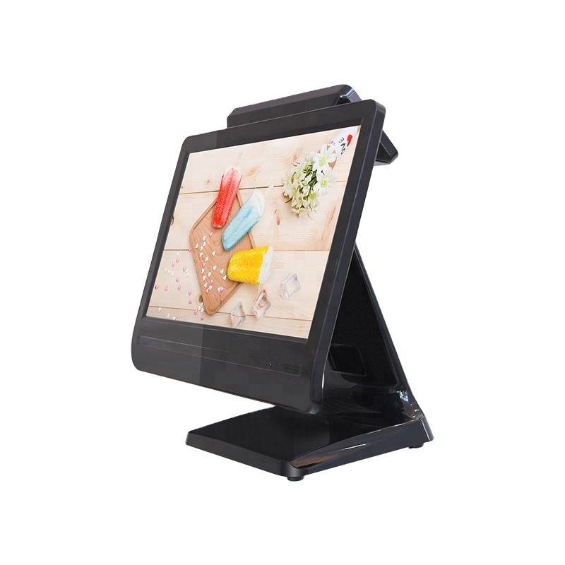 pos system 15 inch w7 pos terminal with rfid reader/bar scanner/printer