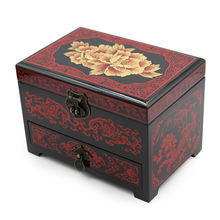 TA MINGREN Vintage Treasure Storage Box for Jewelry Gem Collectibles Crystal