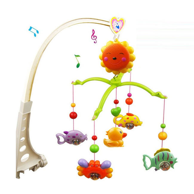 Wind up baby crib music toys beb bell rattle musical hanging baby toy for sale