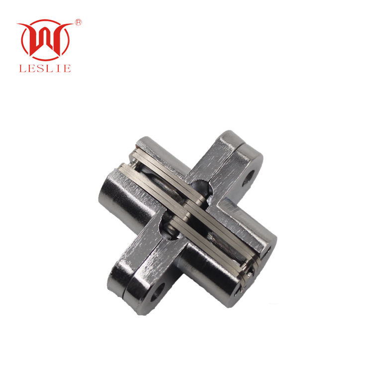 3D Heavy Duty Zinc Alloy Stainless Metal Mortise Mount I Invisible Hidden Concealed Cross Hinge with Holes