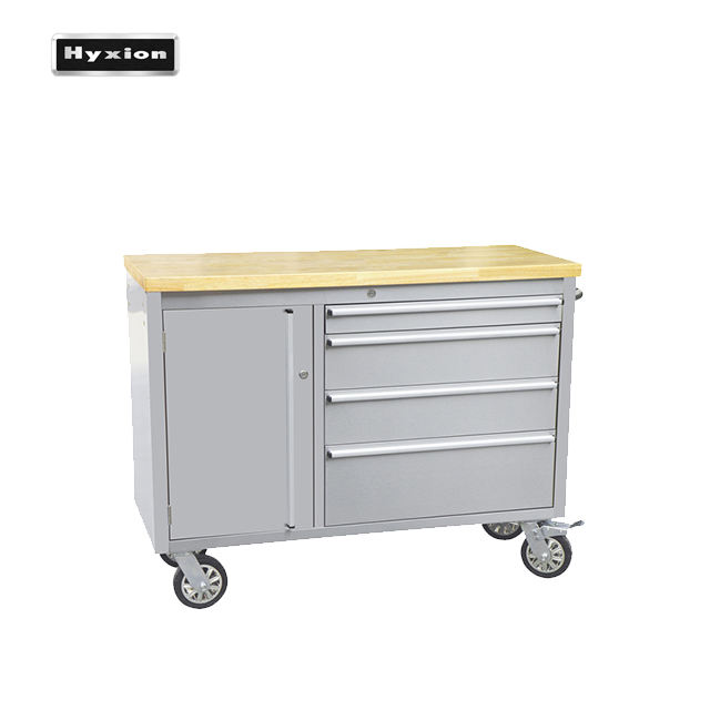 hyxion rubber wood top Work storage SS CABINET MOBILE FILE CABINET for home garage