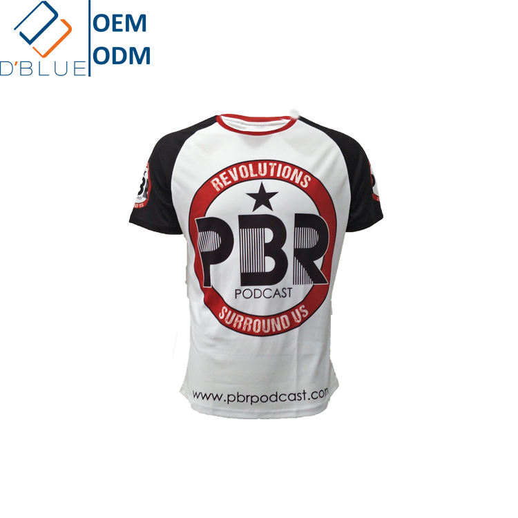 Custom Logo Quick Dry Running Polyester Dry Fit Breathable Wholesale custom t shirt printing men t shirt