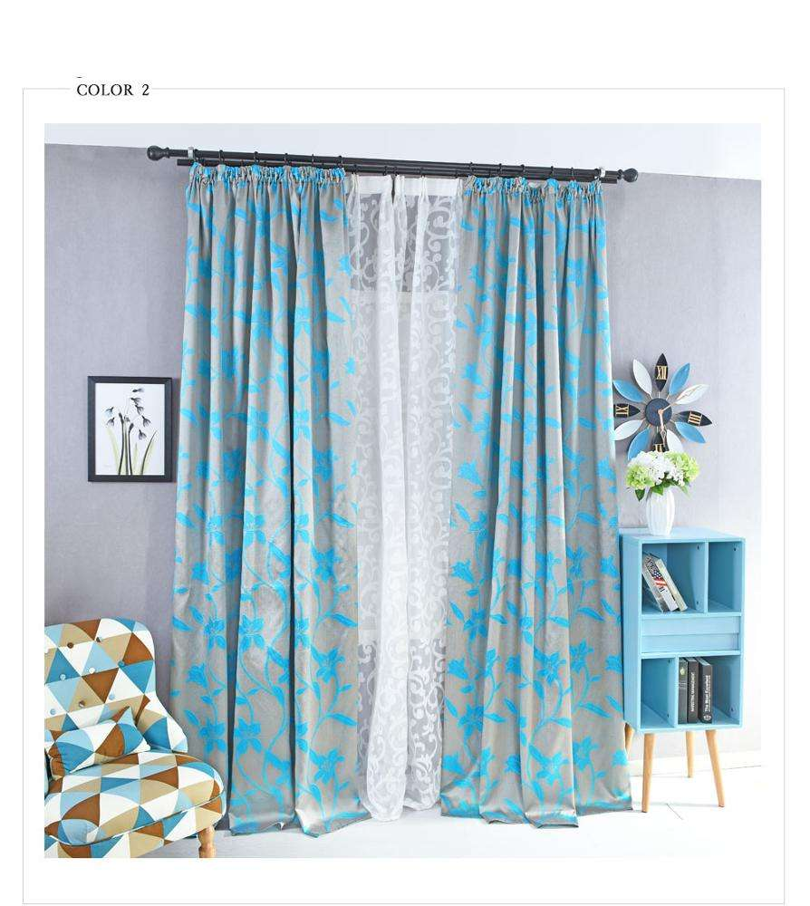 2019 latest floral embroidered design sheer curtains for the home drapes window