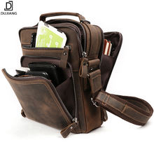 Dropship Crazy Horse Leather Messenger bag Crossbody Men's Sling Shoulder Bags Genuine Leather Messenger Bag For Men Handbag