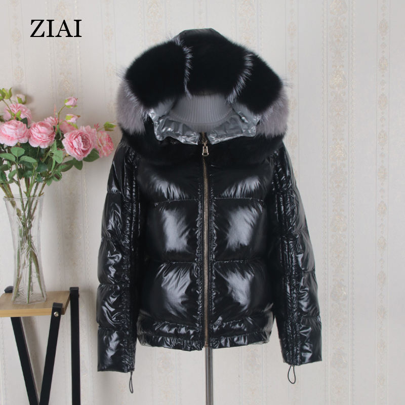 High quality wholesale women warm padded coats with real fur hood quilted coats winter waterproof shiny puffer coat woman