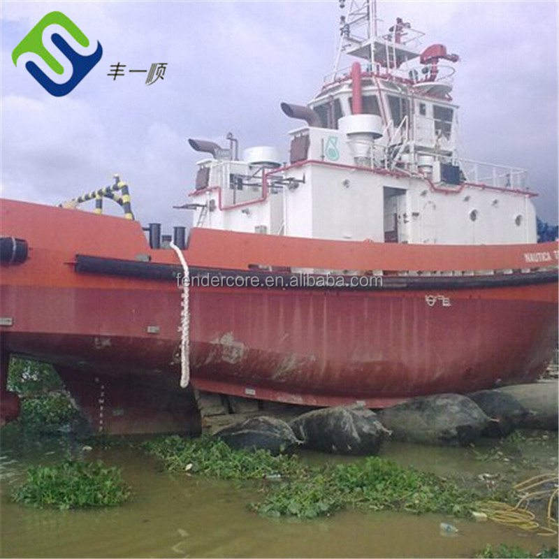 Indonesia popular ferry barge ship launching and landing airbag