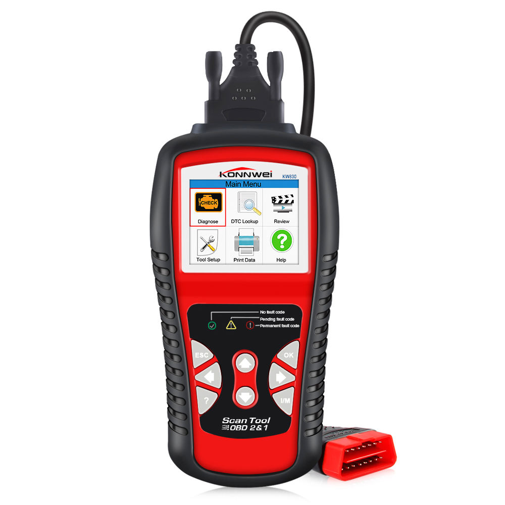 Konnwei KW830 Universele Voertuig Diagnostic Tool OBD2 Scanner Motor Test Machine