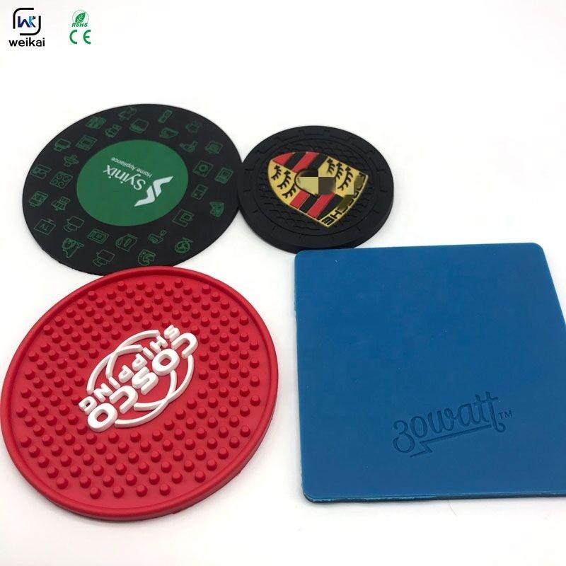 cool silicone/rubber/pvc coaster customized print anti-slip & heat resistant mat beer mat