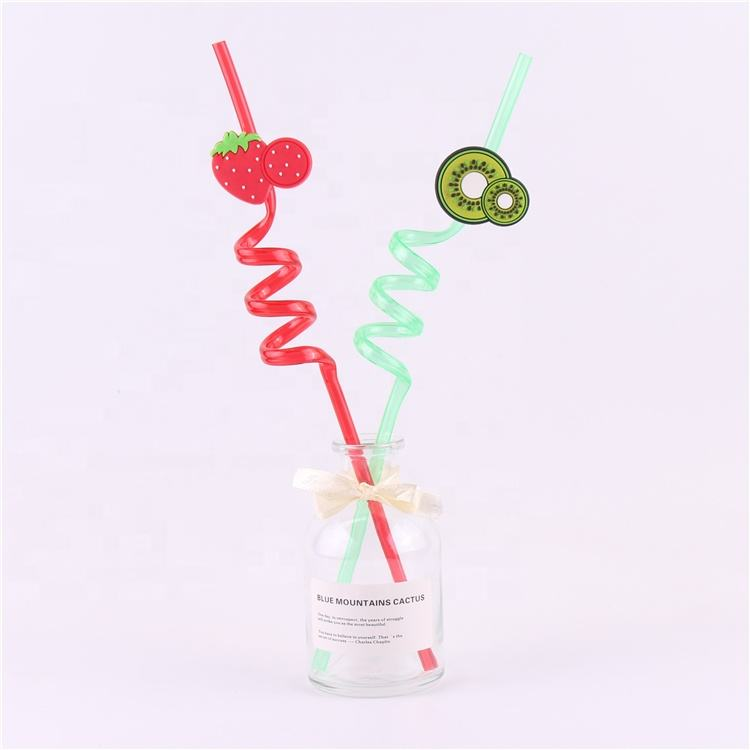 Wholesale best price newly style Strawberry straw fruit slice kiwi pineapple straw