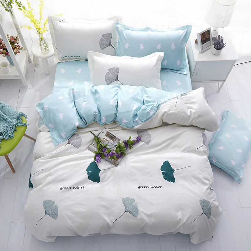 Set Seprai Sederhana dengan Sarung Bantal, Set Seprai Linen Single Double Queen King