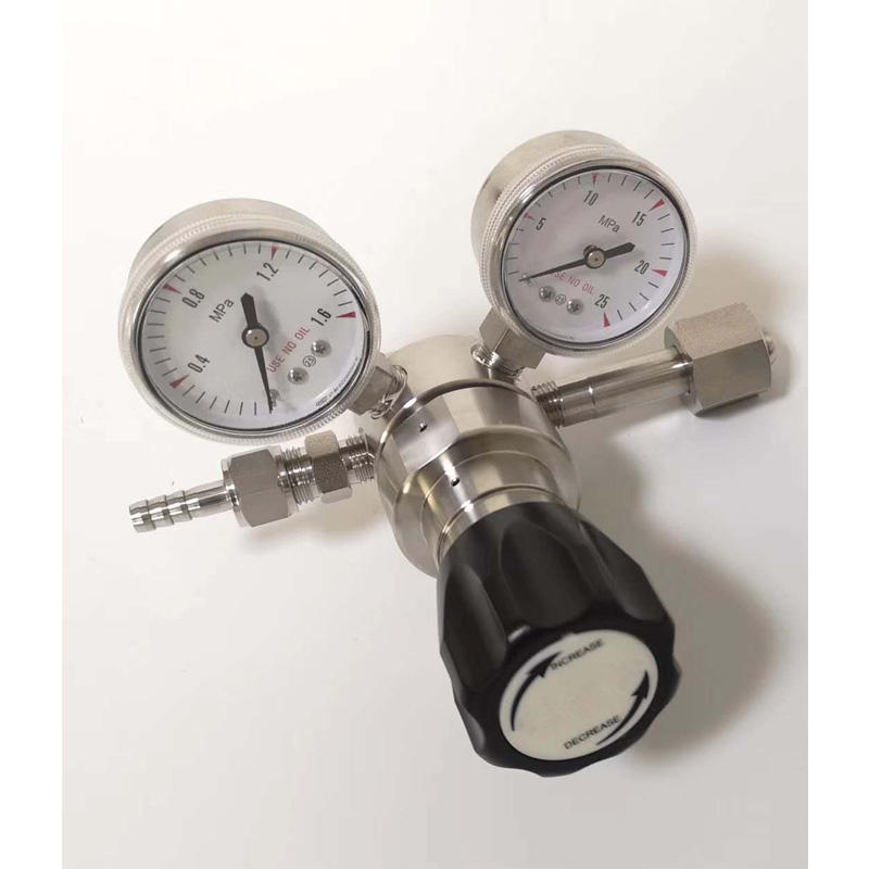 Stainless Steel CGA510 <span class=keywords><strong>tekanan</strong></span> rendah <span class=keywords><strong>propana</strong></span> <span class=keywords><strong>regulator</strong></span> dengan gauge