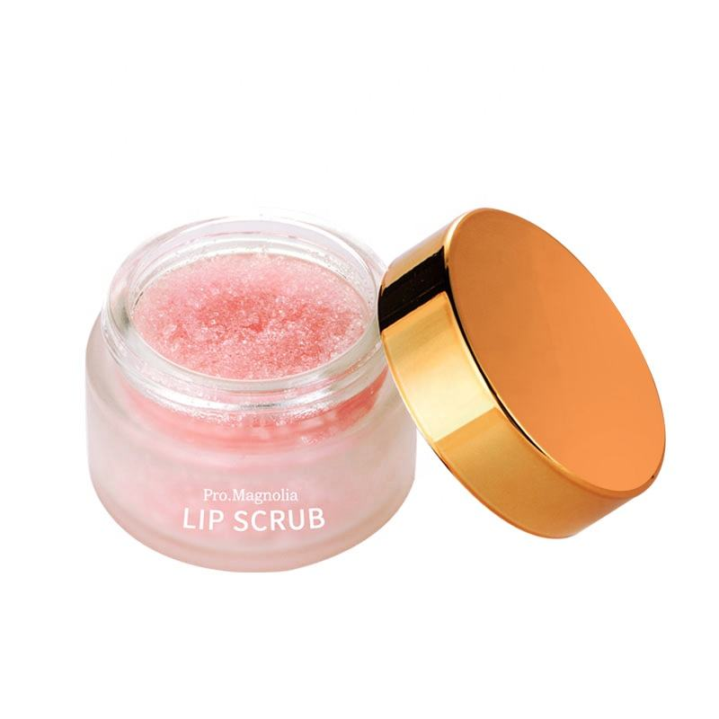Wholesale natural organic custom logo lip care scrub oem sugar pink lip scrub private label