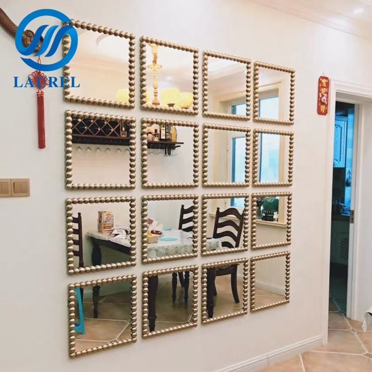 High quality decorative silver rectangular wall mirror
