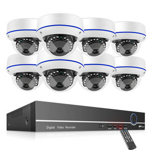 Hause 1080P 8 Kanal POE NVR Kit 2MP Indoor Dome IP Kamera Mit Audio Aufnahme Video Security System