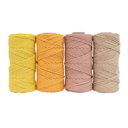Macrame Cord 3mm 4mm 5mm 6mm Twisted Cotton Braid Cord Multi Color length Waist Rope
