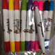2020 Promotional Mini Multi Color Fabric Dye Marker Pen Set for Textile Denim Leather Drawing