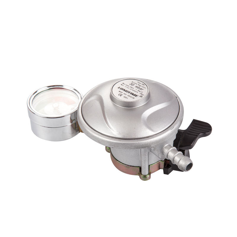 Cheap Price 20mm 22mm 27mm LPG Gas Regulator With Meter for 12.5kg Gas Cylinder