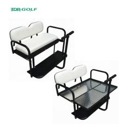 White EZGO TXT Golf Cart Rear Flip Back Seat Kit From China Factory