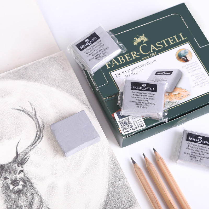 Environmentally friendly rubber art drawing pencil eraser for student