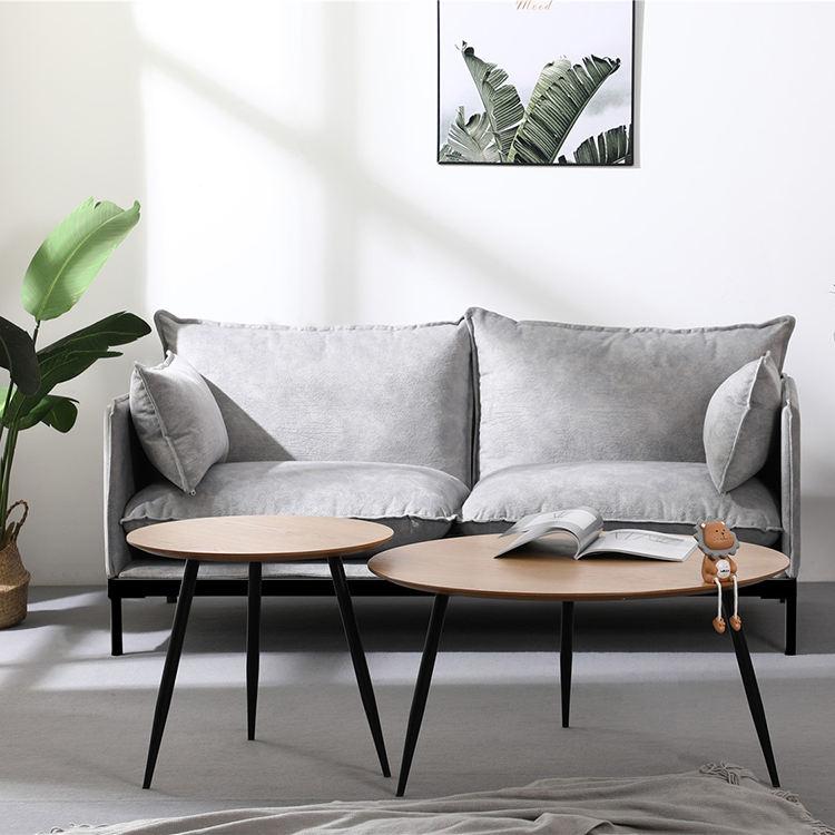 Diseñador Simple muebles de sala modernos transversal tapizado tela sofá en <span class=keywords><strong>casa</strong></span>