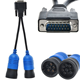 PN 405048 6PIN and 9 pin Y Deutsch Adapter for Nexiq USB Link 125032 Diesel Truck Diagnose Interface