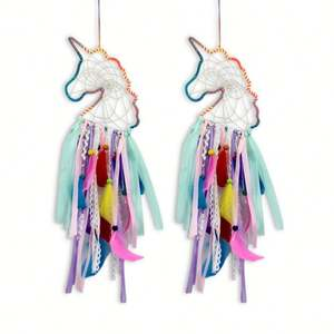 HY0173 Fornece Por Atacado Baratos Handmade Home Decor Indiano Penas Dream Catcher